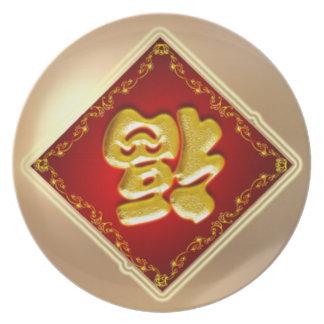 Det kinesiska nya året pläterar tallrik
