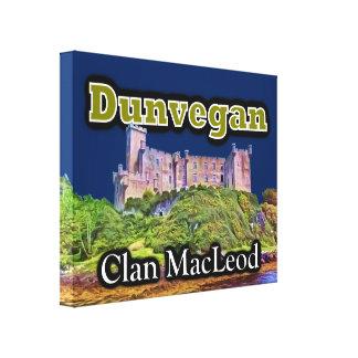 Det klanMacLeod Dunvegan slottet skräddarsy Canvastryck