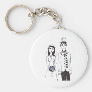 Det kusliga bröllop rund nyckelring