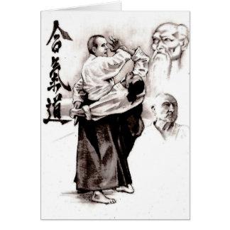 Det ledar- av en aikido - använda av energi av hälsningskort