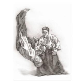 Det ledar- av en aikido - använda av energi av vykort