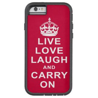 Det levande kärlekskratt och bär på tough xtreme iPhone 6 skal