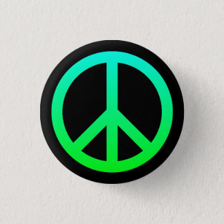 Det ljusa fredsymbolet knäppas mini knapp rund 3.2 cm