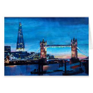 Det London torn överbryggar med skärvan Hälsningskort