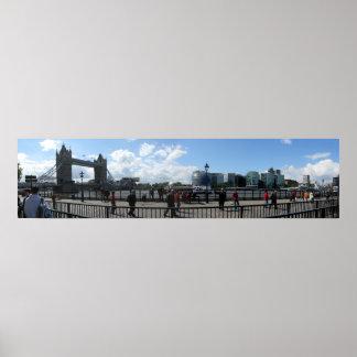Det London torn överbryggar panorama- Poster