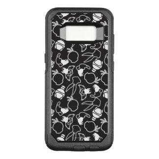 Det LOONEY TUNES™-huvudet skisserar mönster OtterBox Commuter Samsung Galaxy S8 Skal