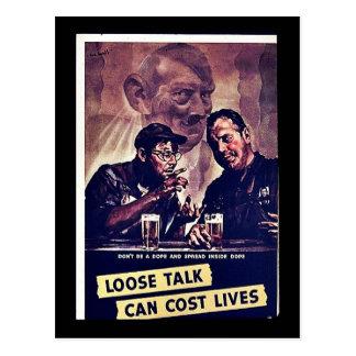 Det lösa samtalet kan kosta liv vykort
