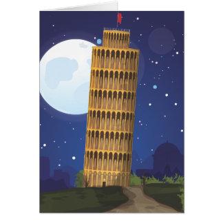 Det lutande torn av Pisa Hälsningskort