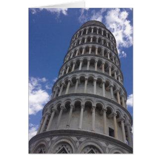 Det lutande torn av Pisa (italien) Hälsningskort
