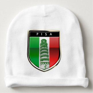 Det lutande torn av Pisa och den italienska flagga