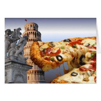 Det lutande torn av Pizza (Pisa) Hälsningskort