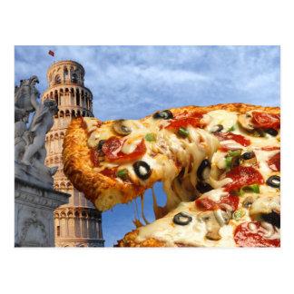 Det lutande torn av Pizza (Pisa) Vykort