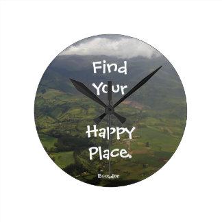 Det lyckliga stället Ecuador landskap Rund Klocka