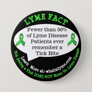 Det Lyme sjukdomfaktumet knäppas för Mellanstor Knapp Rund 7.6 Cm