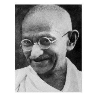 Det Mahatma Gandhi porträtt fotograferar Vykort