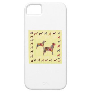 Det målade HUNDgåvahusdjuret LURAR iPhone 5 Case-Mate Skydd