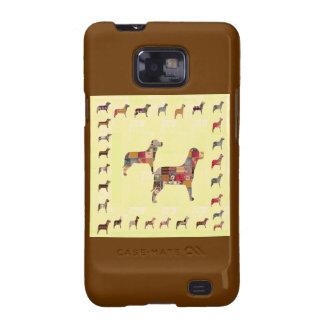 Det målade HUNDgåvahusdjuret LURAR Samsung Galaxy S2 Fodral