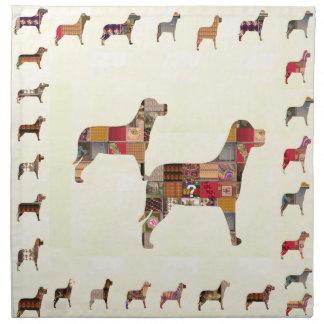 Det målade HUNDgåvahusdjuret LURAR Servett