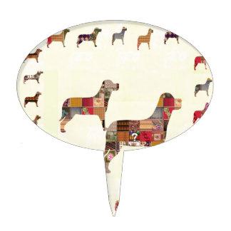 Det målade HUNDgåvahusdjuret LURAR Cake Topper