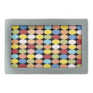 Det mång- bältet för färgpolka dotsrektangeln