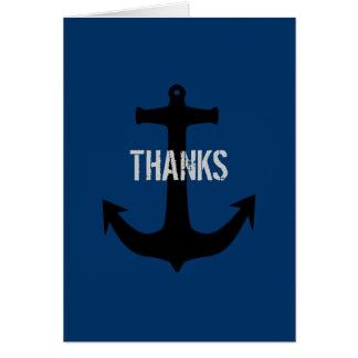 Det marinblåa bäst mantackmeddelandet noterar kort