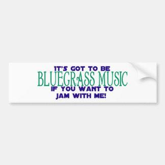 Det måste vara blågräsmusik bildekal