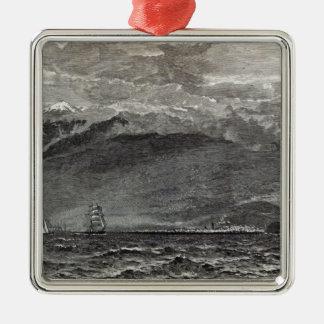 Det maximalt av Teneriffe, Sante Cruz Julgransprydnad Metall