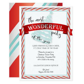 Det mest underbara Time julpartyet 12,7 X 17,8 Cm Inbjudningskort
