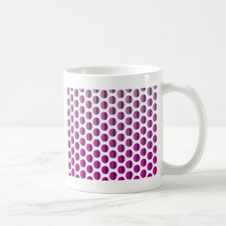 Det metalliska hallon pricker kaffemugg