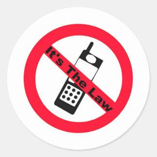 Det mobila förbudet är det lagen runt klistermärke