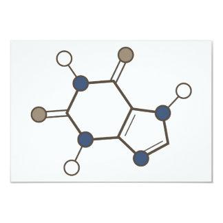 det molekylära koffeinet strukturerar 8,9 x 12,7 cm inbjudningskort