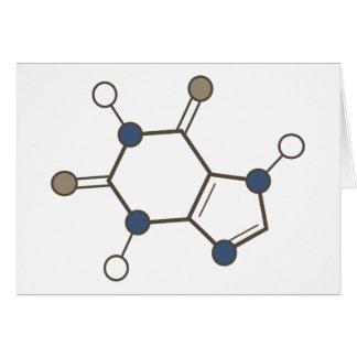 det molekylära koffeinet strukturerar hälsningskort