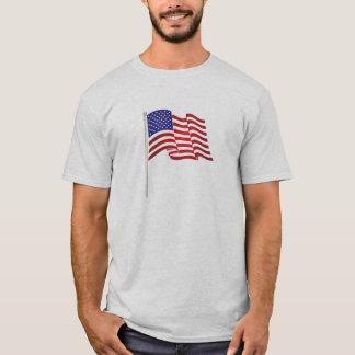 Det mycket patriotiska flaggatrycket och,… rymmer tröja