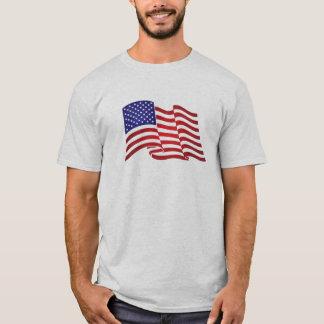 """Det mycket patriotiska flaggatrycket och """"vi t-shirt"""