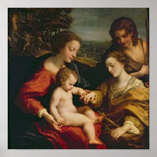 Det Mystic giftermål av St. Catherine av Poster