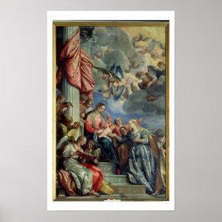 Det Mystic giftermål av St. Catherine Poster