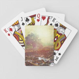 Det nätt sceniska berg landskap att leka kort spelkort