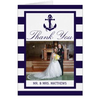 Det nautiskt ankrar samlingen för marinrandbröllop OBS kort