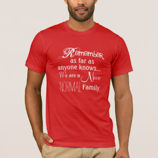 Det normalafamiljT-tröja T Shirts