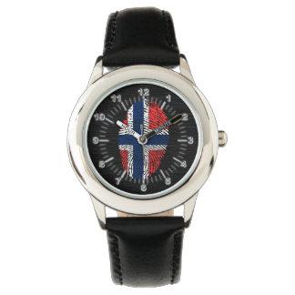 Det norska handlag identifierar med fingeravtryck armbandsur
