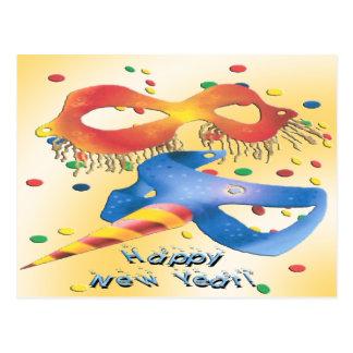 Det nya året maskerar vykort