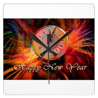 Det nya året tar tid på #3 fyrkantig klocka