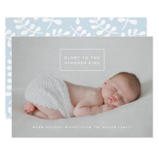 Det nyfödda kortet för kunghelgdagfoto 12,7 x 17,8 cm inbjudningskort