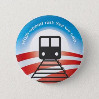 Det Obama tåg knäppas Standard Knapp Rund 5.7 Cm