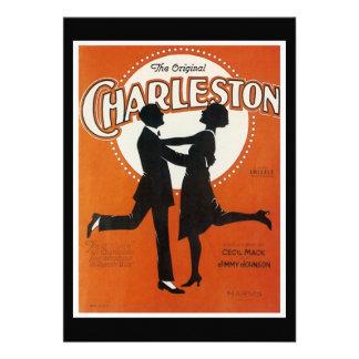 Det original- lakan för den Charleston vintagesång