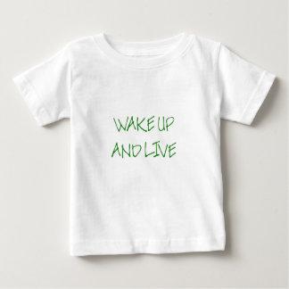 Det övre vaket och bor (enkel grönt) t-shirts