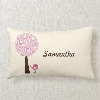 Det personifierade rosa Retro träd kudder Lumbarkudde