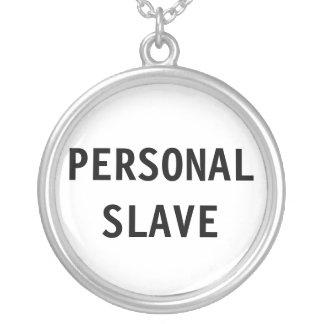 Det personliga halsbandet slavar halsband med rund hängsmycke