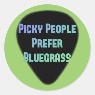 Det Picky folket föredrar blågräs Runt Klistermärke