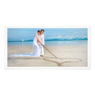 Det PixDezines bröllopfotoet tackar dig Anpassingsbara Fotokort